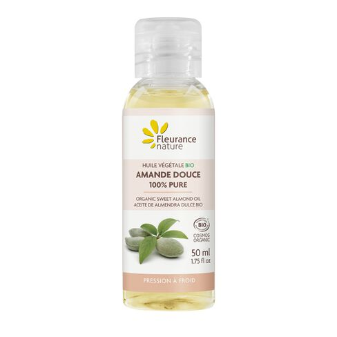 Huile végétale Bio d'Amande douce 100% pure cosmétique bio