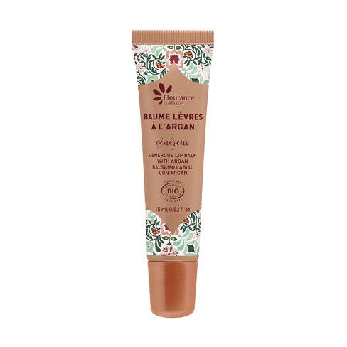 Baume lèvres généreux argan cosmétique bio