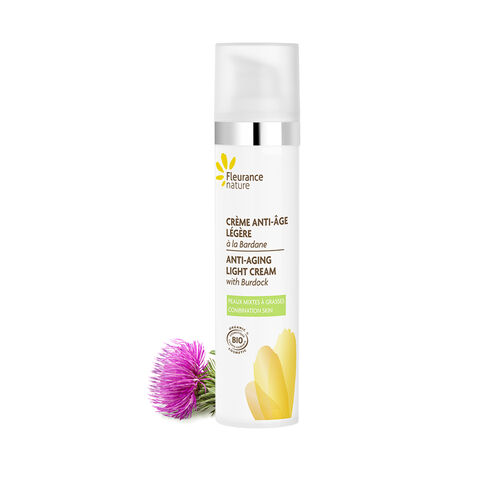 Anti-aging light cream with Burdock