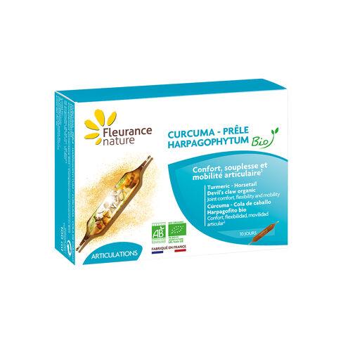 Ampoules de Curcuma - Harpagophytum - Prêle Bio complément alimentaire bio
