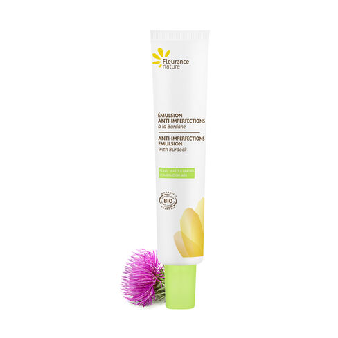 Anti-imperfections emulsion with Burdock