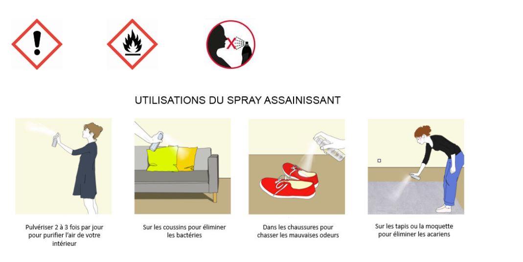 Comment utiliser un spray assainissant ?
